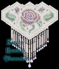 Violet Bridal Rose Barrette id 10349