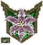 Purple Lilly Pendant id 14620
