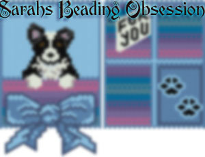 Black Border Collie Gift Pouch id 9126