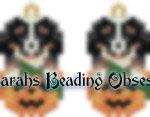 Bernese Mtn Pumpkin Earrings id 14757