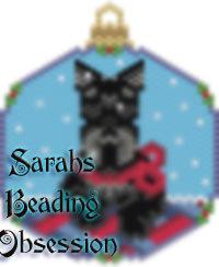 Scottish Terrier Trimmed Snowglobe Charm id 14499