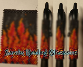 Flames Pen Cover id 15802