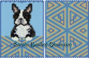 Black White Boston Terrier Pouch id 16582