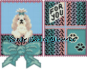 Lhasa Apso Honey Bow Gift Pouch id 15056