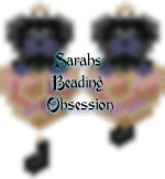 Black Pug Love Earrings id 15040