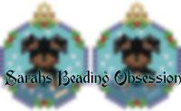 Rottie Snowglobe Earrings id 14259