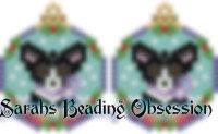 Black White Corgi Snowglobe Earrings id 14740