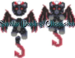 Midnight Devil Cat Wiggle Charm id 15574