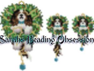King Charles Spaniel Tri-Color Wreath Set id 15128