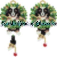 Bernie Wreath Wiggle Earrings id 15703