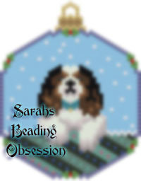King Charles Spaniel Tri-Color Snowglobe Ornament id 14255