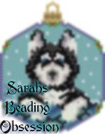 Husky Black Snowglobe Ornament id 14343