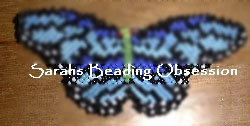 Blue Monarch Butterfly Barrette Lmsq id 3053