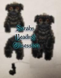 Black Pug Wiggle Charm id 16089