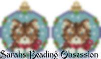 Husky Red Snowglobe Earrings id 14389
