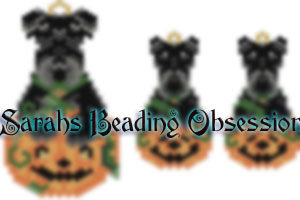 Scottish Terrier Pumpkin Set id 14433