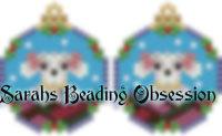 Poodle Snowglobe Earrings id 14250