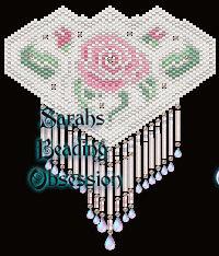Pink Bridal Rose Barrette id 10309