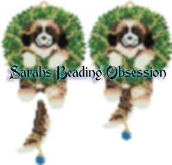 St Bernard Wreath Charm Ornament id 15699