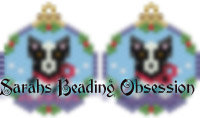 Black Border Collie Snowglobe Earrings id 14701
