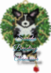 Black Corgi Wreath Charm id 16536