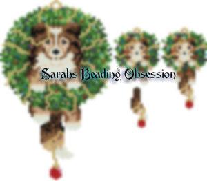Sheltie Sable Wreath Set id 15755