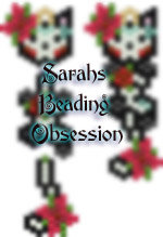 Midnight Day of the Dead Female Wiggle Earrings id 14868