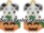 Blue Merle Aussie Pumpkin Earrings id 14669
