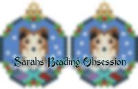 Sheltie Sable Snowglobe Earrings id 14681