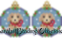 Golden Retriever Snowglobe Earrings id 14652