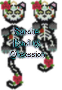Midnight Day of the Dead Female Wiggle Charm id 14867