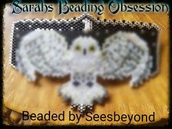 Snowy Owl Hugs Barrette Redesign id 15508