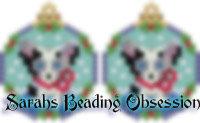 Blue Merle Corgi Snowglobe Earrings id 14743