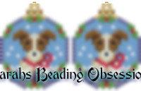 Jack Russell Terrier Snowglobe Earrings id 14883