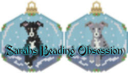 Greyhound Snowglobe Ornaments Set #1 id 15692