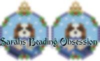 Cavalier Spaniel Blenheim Snowglobe Earrings id 14253