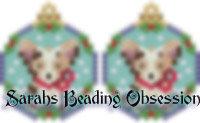 Red Merle Corgi Snowglobe Earrings id 14737
