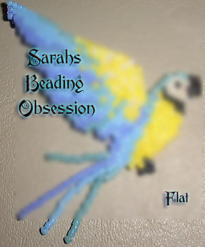 Blue and Gold Macaw Flat Decoration id 3102