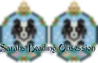 Sheltie Tuxedo Snowglobe Earrings id 13987