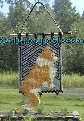 Fawn Border Collie Sun Catcher Mini Tapestry id 14582