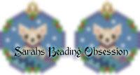 Fawn Chihuahua Snowglobe Earrings id 14554