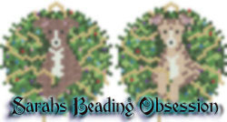Greyhound Wreath Ornaments Set #2 id 15695
