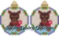 Red Doberman Snowglobe Earrings id 14790