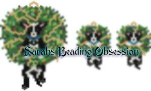 Black Chihuahua Wreath Set id 14995