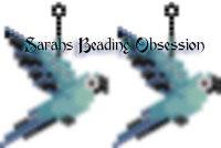 Spix Macaw Female Earrings id 16402