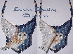 Barn Owl Winged Pendant id 8289