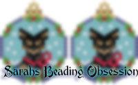 Mini Pinscher Black Tan Snowglobe Earrings id 14153