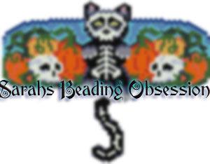 Midnight Bones Wiggle Barrette id 16426