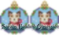 Red Merle Border Collie Snowglobe Earrings id 14713
