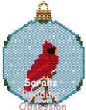 Cardinal Snowglobe Ornament id 12902
